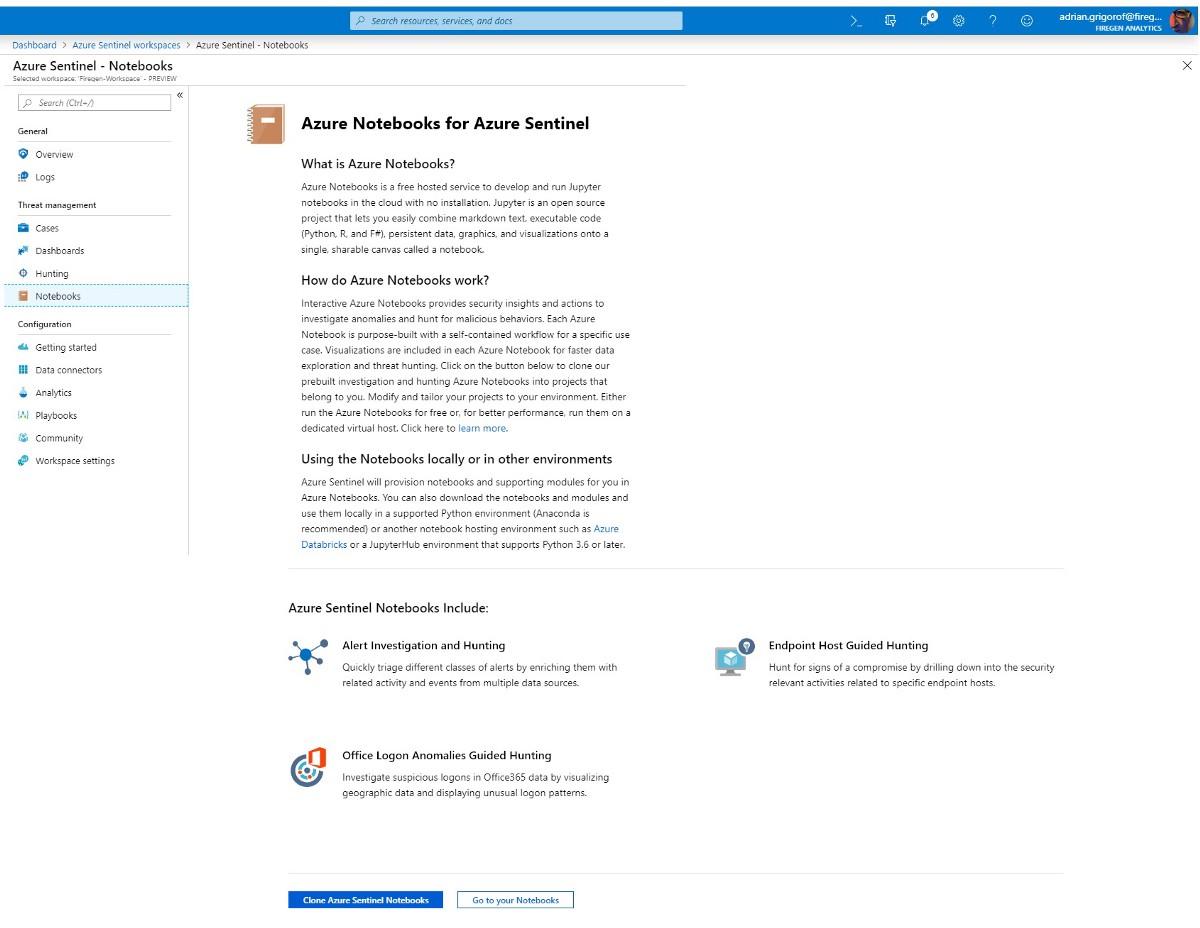 Azure Sentinel Notebooks | Managed Sentinel