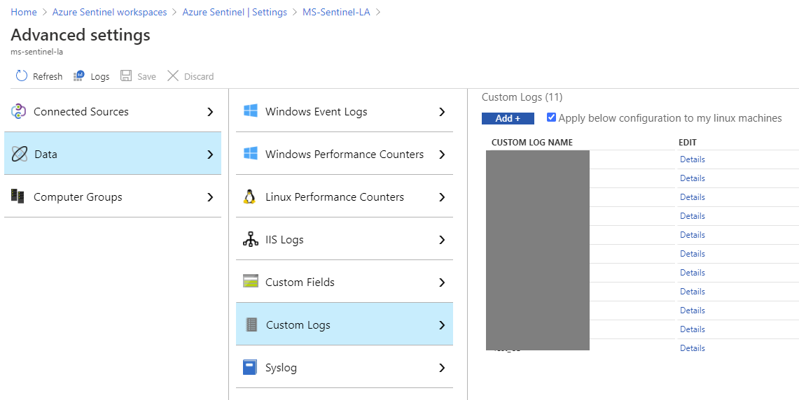 Azure Sentinel Custom Connectors