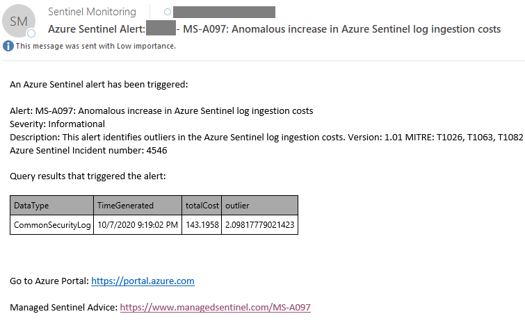 SIEM Alert Cost Anomaly
